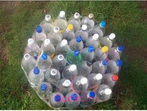 DIY عثمانی از بازیافت بطری های ساده پلاستیکی 1