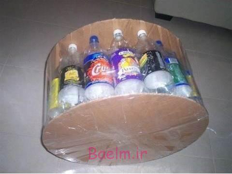 DIY عثمانی از بازیافت بطری های ساده پلاستیکی 2