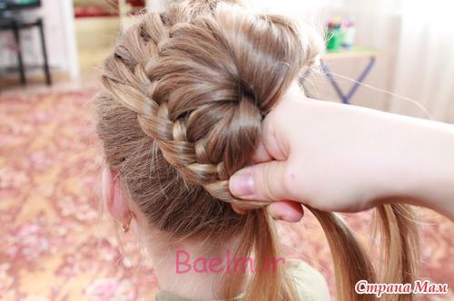 DIY Unique Braided Bun Hairstyle 7