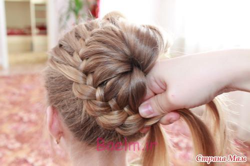 آموزش تصویری آموزش بستن مو با یک روش ساده در منزل سری 3