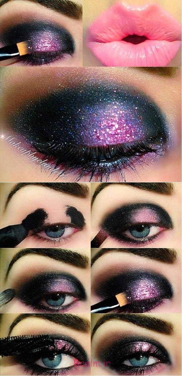 آموزش تصویری | مدل جدید آرایش چشم با سایه های مد روز و رنگ های بسیار زیبا