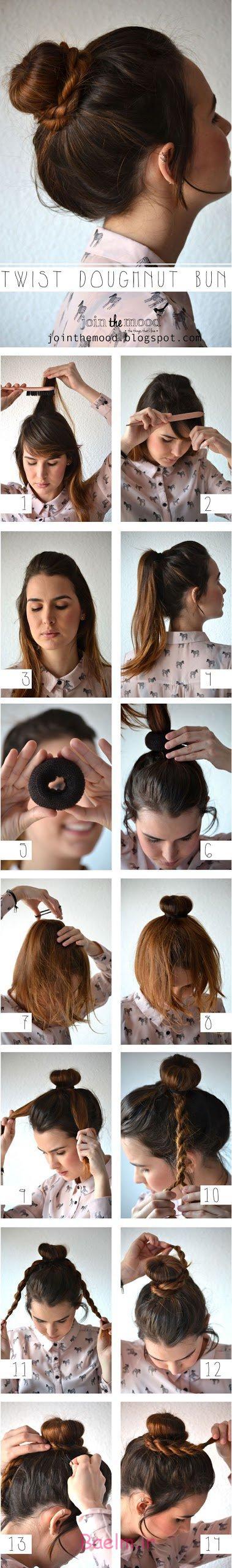 آموزش تصویری | آموزش بستن مو با یک روش ساده برای مهمانی (سری 4)