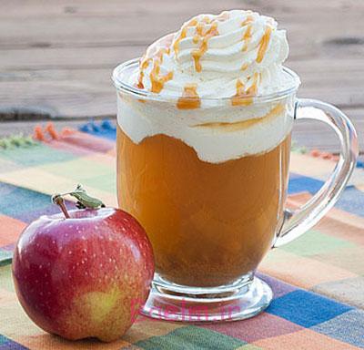 نوشیدنی گرم سیب کاراملی,نوشیدنی سیب کاراملی