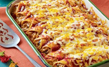 آموزش آشپزی | طرز تهیه مرغ آنچیلادا (نان ذرت مکزیکی)