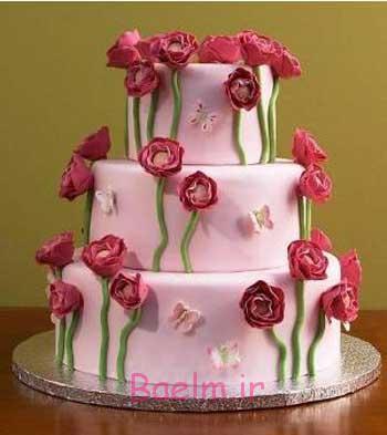 تزئینات شیک | عکس هایی از انواع تزئینات کیک عروسی و تولد