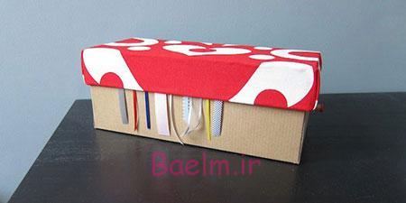 آموزش کاردستی جالب با جعبه خالی کفش | هنر خانه داری