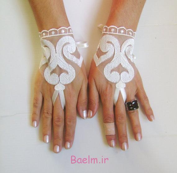 عکسهای زیبا | دستکش گیپور و توری عروس بسیار شیک ( سری 2)