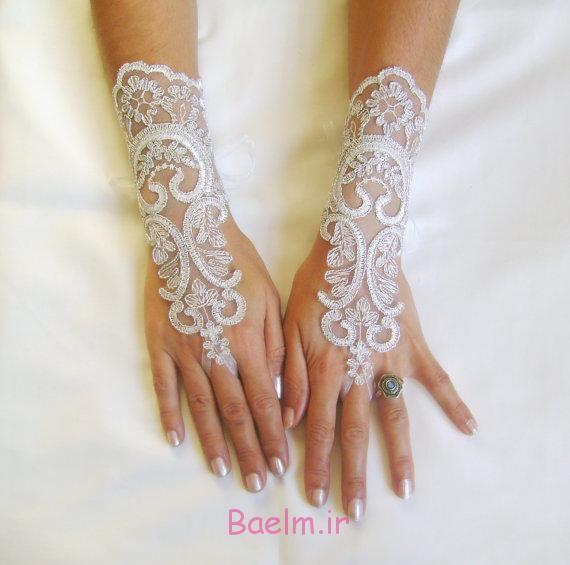 مدل های زیبا و جدید دستکش گیپور و توری عروس بسیار شیک ( سری 3)
