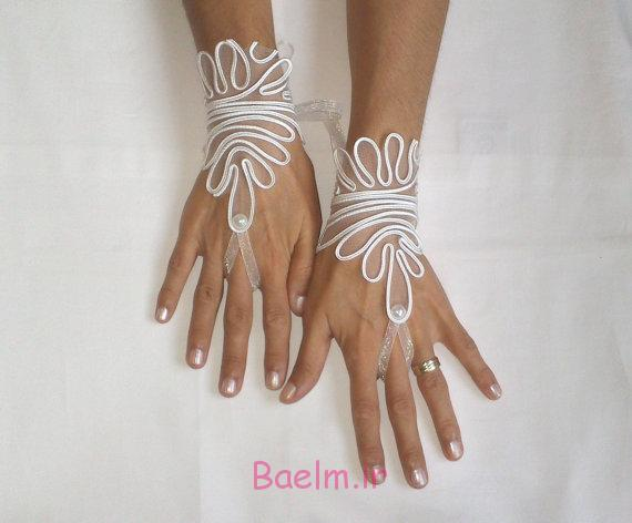 دستکش گیپور عروس