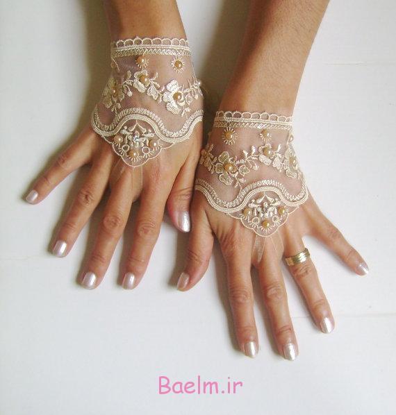 دستکش توری عروس