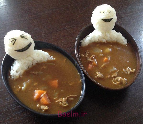 تزئینات فانتزی | خنده دارترین مدل تزئین غذا به شکل ژاپنی (بسیار جالب)