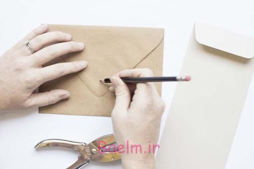 آموزش تصویری | آموزش درست کردن پاکت نامه دگمه دار در منزل