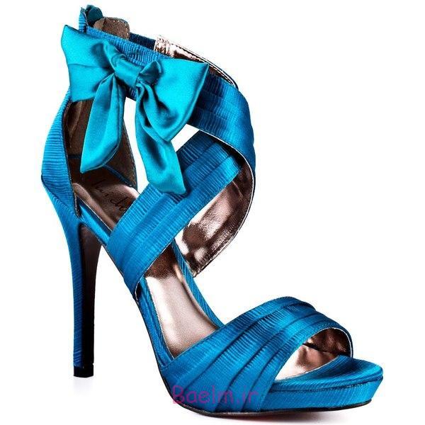 مد و پوشاک | مدل های جدید کفش پاشنه بلند زنانه و دخترانه آبی رنگ