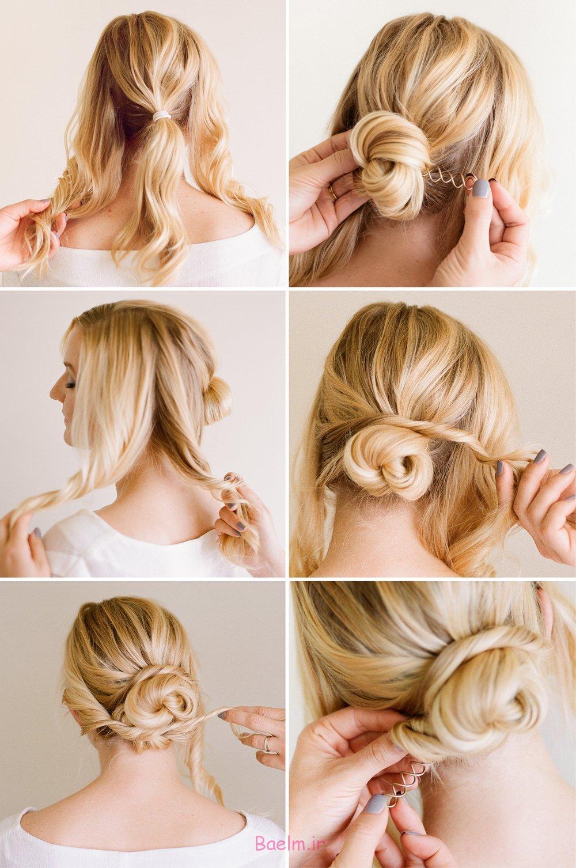 آموزش تصویری | 4 مدل بستن مو برای مهمانی های خودمانی (سری 4)