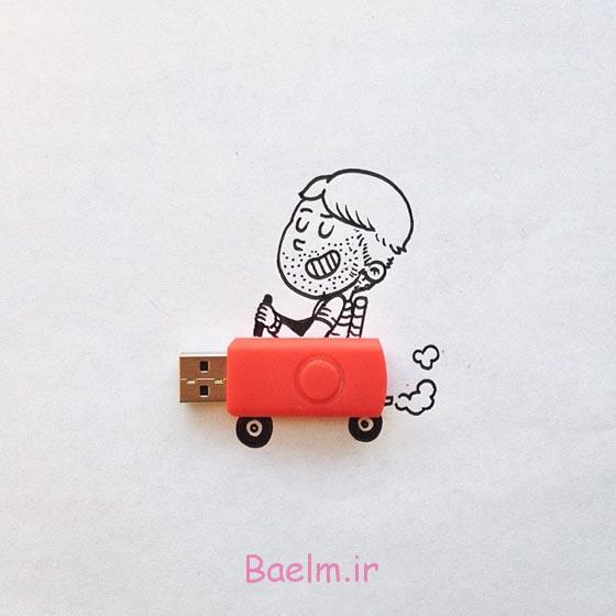 خنده دار و خلاق تصویر سازی های تعاملی توسط الکس سولیس