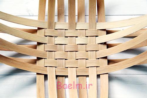 DIY Woven Baskets bottom - آموزش تصویری بافت سبد حصیری