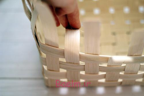 DIY Woven Baskets fold over outer reeds - آموزش تصویری بافت سبد حصیری