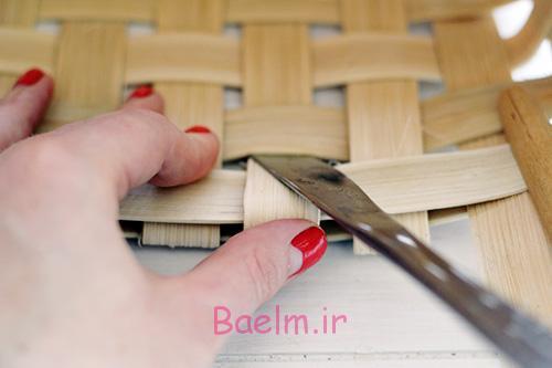 DIY Woven Baskets fold under strand - آموزش تصویری بافت سبد حصیری