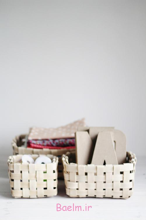 DIY Woven Baskets styled 500x750 - آموزش تصویری بافت سبد حصیری