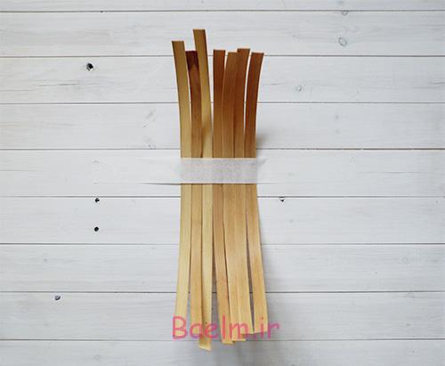 DIY Woven Baskets tape down half reed - آموزش تصویری بافت سبد حصیری