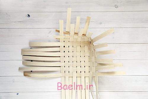 DIY Woven Baskets two sides - آموزش تصویری بافت سبد حصیری