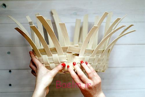 DIY Woven Baskets weave sides together - آموزش تصویری بافت سبد حصیری
