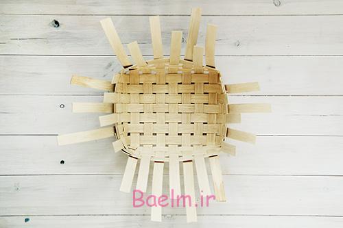 DIY Woven Baskets with four sides - آموزش تصویری بافت سبد حصیری