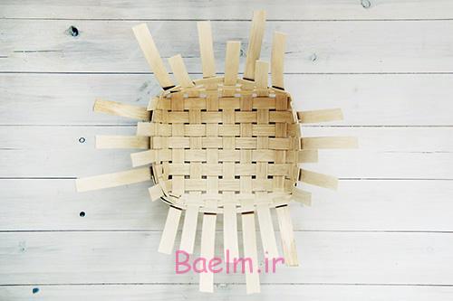 DIY Woven Baskets with four sides1 - آموزش تصویری بافت سبد حصیری