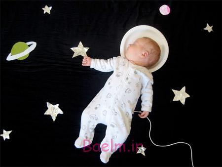عکس های جالب | چند مدل از خوابیدن نوزاد با لباس فانتزی