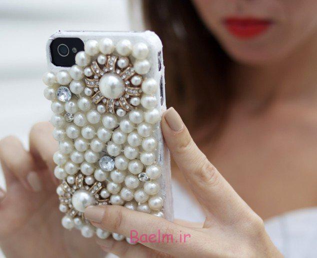 عکس های زیبا از تزئین پشت موبایل با وسایل ساده و راحت