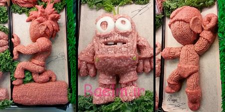 Ground Meat Sculptures