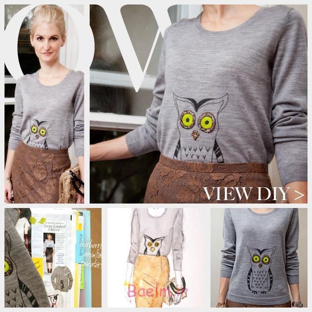 Owl Sweater DIY Feature