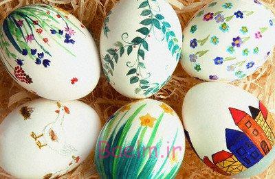 نوروز 94 | آموزش رنگ كردن تخم مرغ هفت سين به چند روش مختلف