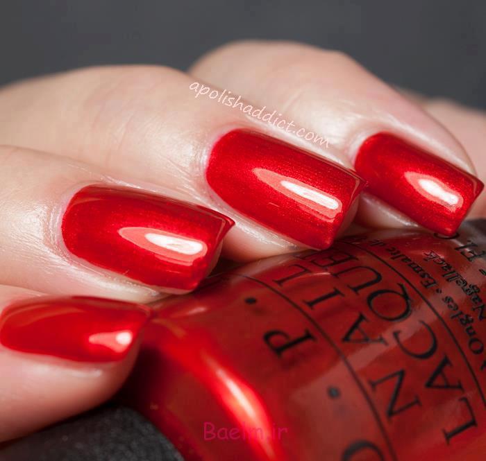 red 7 جدیدترین مانیکورهای قرمز 2014