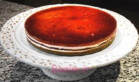 آموزش انواع شیرینی | طرز تهیه چیز کیک آلبالویی خانگی (ساده و خوشمزه)