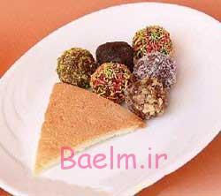 تغذیه کودک   طرز تهیه توپک های شکلاتی مخصوص کودک با بیسکویت پتی بور و شکلات
