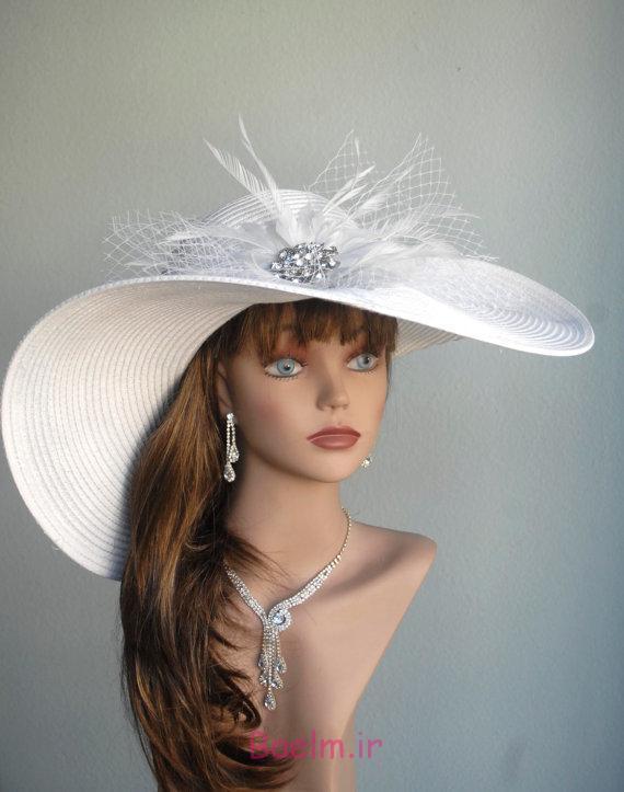 عکسهای زیبا | مدل های جدید کلاه توری و گلدار عروس اروپایی (سری 3)