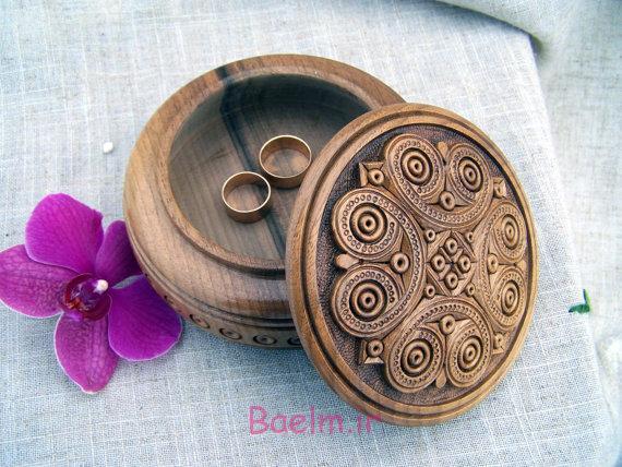 عکس های زیبا | مدل های شیک از جعبه چوبی حلقه و جواهرات (سری 2)