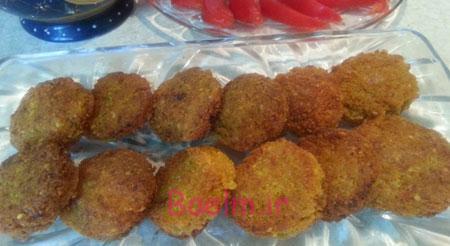 آموزش آشپزی | طرز تهیه فلافل نخود با هویج و انبه پودر شده