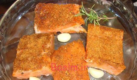 آموزش انواع غذا | طرز تهیه کته با ماهی سالمون (مناسب برای عید)