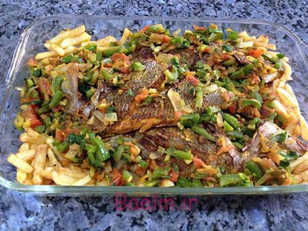 ماهى و سبزیجات در فر, نحوه پخت ماهی در فر