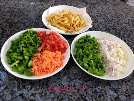 آموزش آشپزی | طرز تهیه ماهى و سبزیجات در فر