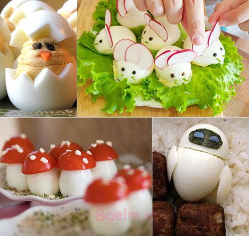12 زیبا ایجاد تخم مرغ آب پز