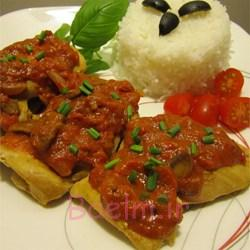 آموزش آشپزی | دستور پخت خوراک مرغ هندی با سس گوجه