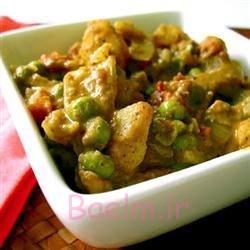آشپزی   طرز تهیه خوراک گیاهی سیبزمینی و ادویهی کاری