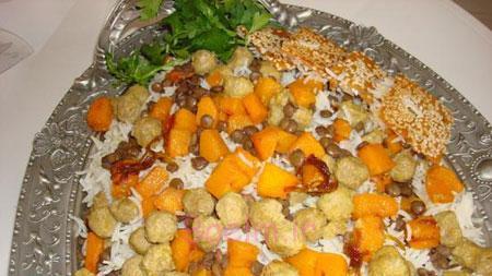 آموزش آشپزی |  طرز تهیه پلوی کدو حلوایی