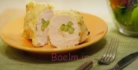 آموزش آشپزی   طرز تهیه رولت مرغ آسپاراگوس