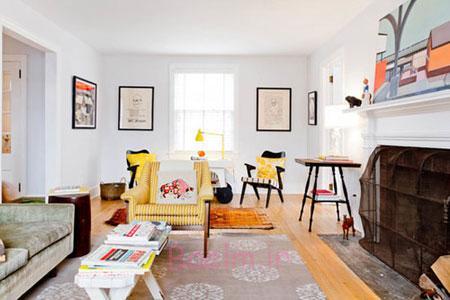 دکوراسیون مبلمان رنگى, چیدمان رنگی خانه