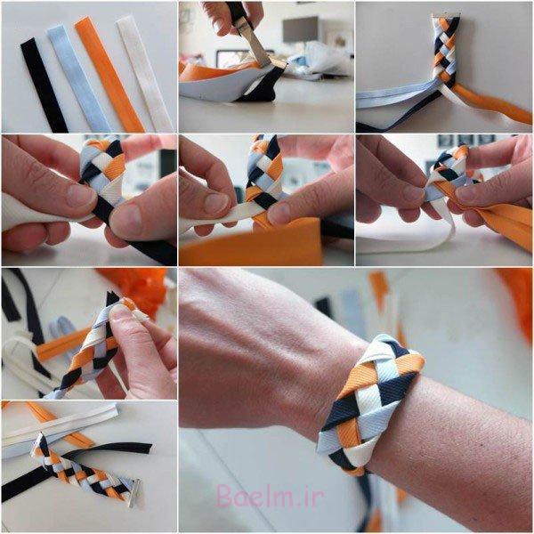 آموزش تصویری   طرز ساخت 7 مدل دستبند اسپرت و شیک دخترانه