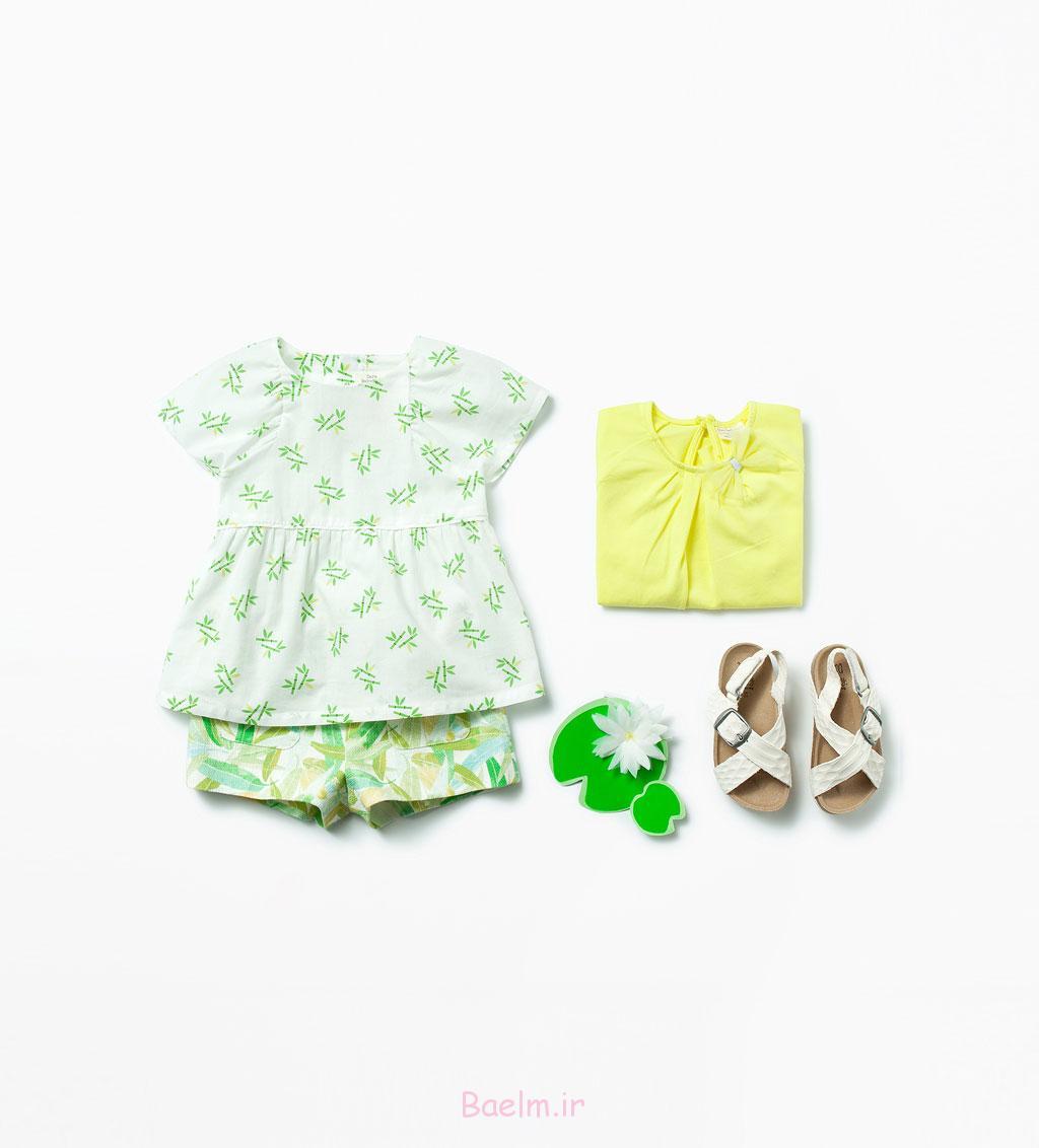 ست لباس نوزادی دخترانه 2015